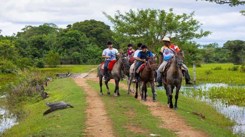 Passeio a cavalo no Pantanal com a Pousada Piuval